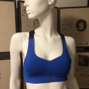 Blue Adidas sports bra top